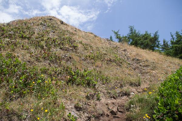 rocky scramble to the summit